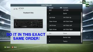 FIFA 14 Controls for keyboard