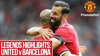 Legends Highlights: United vs Barcelona | Manchester United Foundation