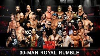 WWE Royal Rumble Match 2016 30-Man (WWE World Heavyweight Championship) - Simulation WWE 2K16