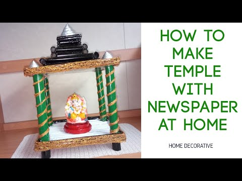 How to make Temple with newspaper DIY easy