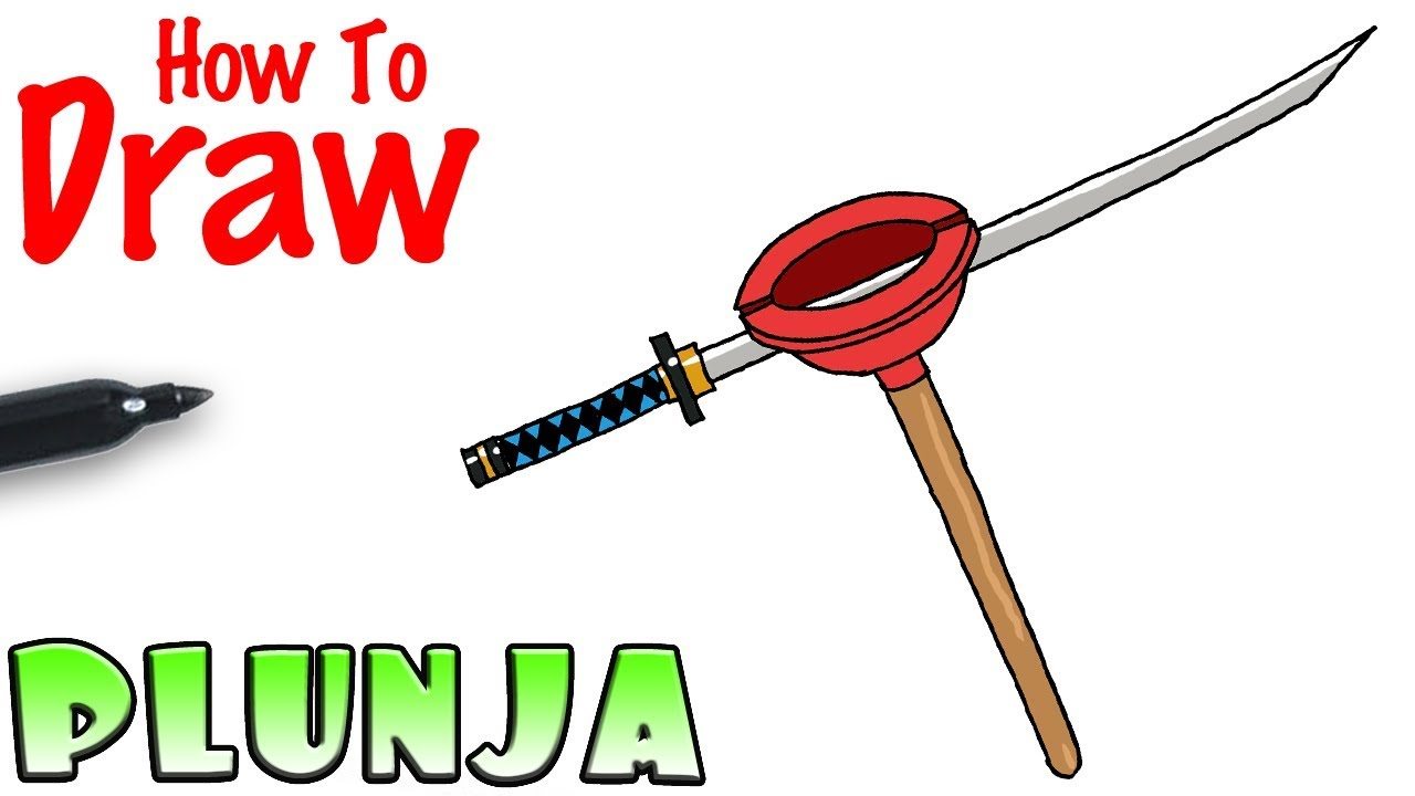 How To Draw The Plunja Fortnite Youtube