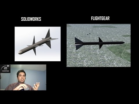 How to Import 3D CAD Models into a Flight Simulator (Solidworks to Simulink to FlightGear)