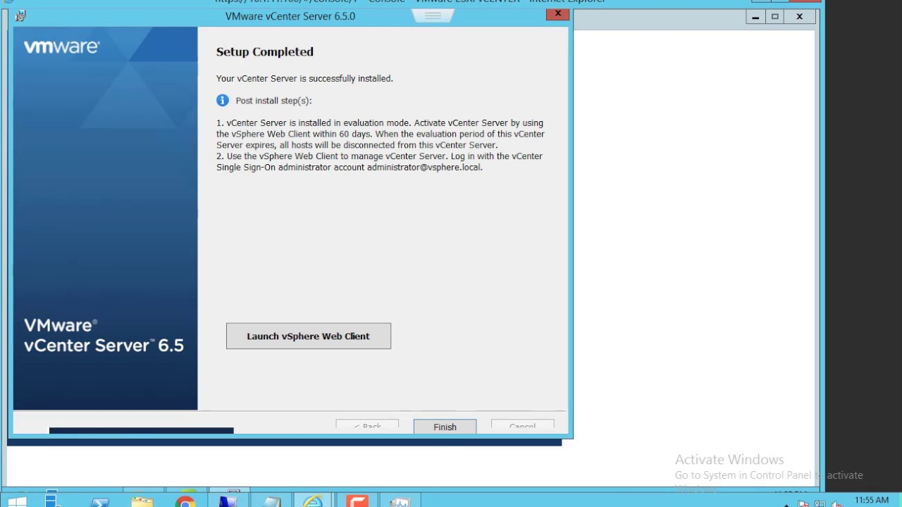 HOW TO INSTALL AND CONFIGURE VMWARE vCENTER SERVER 6 5 ON ESXI 6 5