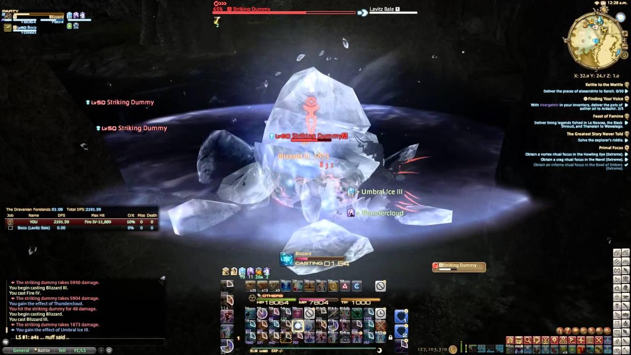 2131 DPS @ 3mins (i235 BLM Dummy Parse)   Final Fantasy XIV: Heavensward