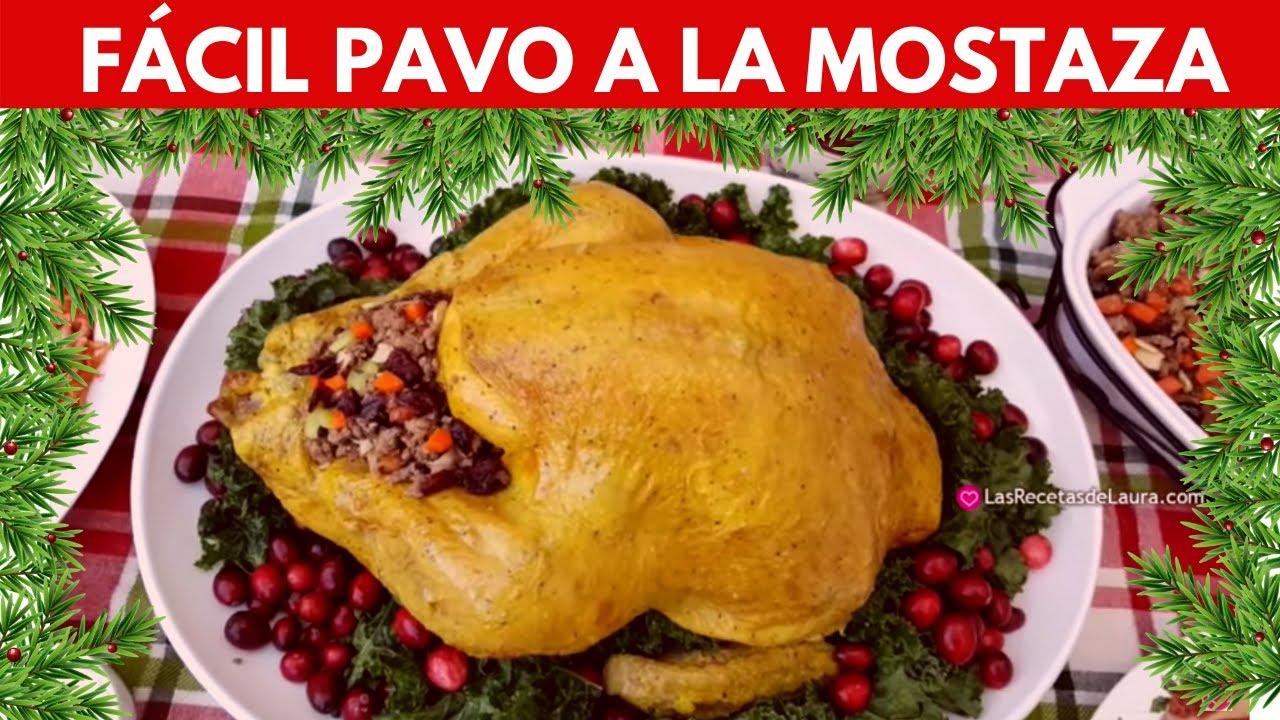 Receta fácil para hacer PAVO AL HORNO jugoso a la mostaza ???? Paso a Paso - #Pavo a la mostaza