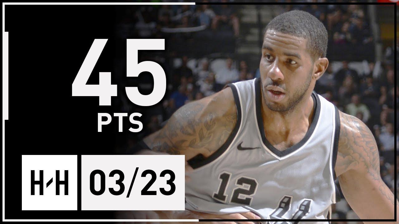 LaMarcus Aldridge Full Highlights Jazz vs Spurs (2018.03.23) - 45 Pts!
