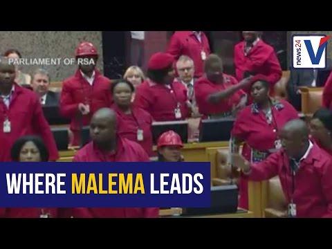 WATCH: Malema disses Zuma, leads EFF walkout