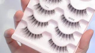 Kiss Looks So Natural Lashes in POISE Try on & Review | CORRIE V