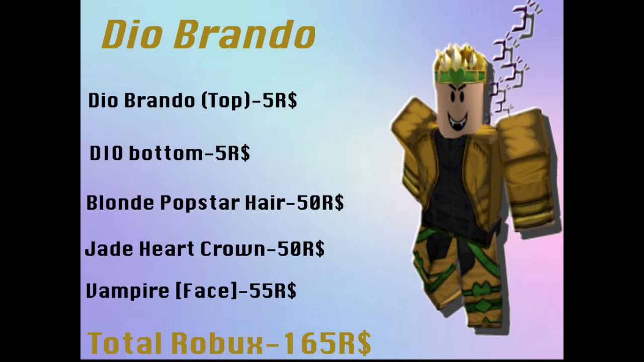 5 Amazing Jjba Roblox Avatars 3 Youtube