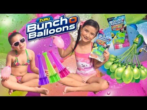 Bunch o Balloons Zuru - Enchendo balões de água em 1 minuto - Guerra de balões - diversão na piscina