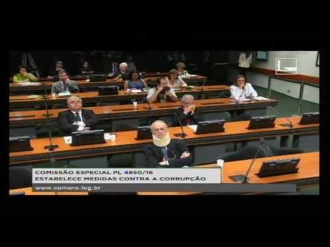 PL 4850/16 - ESTABELECE MEDIDAS CONTRA A CORRUPÇÃO - Reunião Deliberativa - 22/08/2016 - 14:39