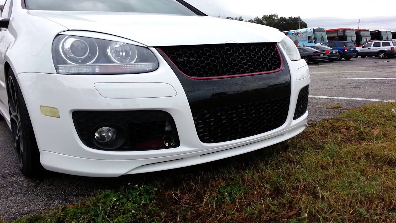 Gti Update Front Spoiler Installed Notch Filled Youtube