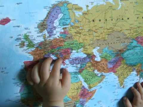 The Countries of the world-europe song.Adam 3,5 years old