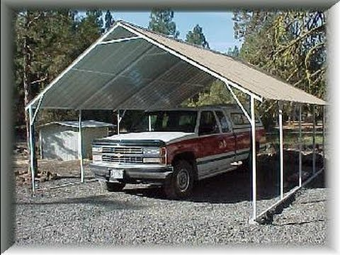 Metal carport garage plans youtube for Steel garage plans