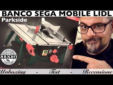 SEGA CIRCOLARE MOBILE DA BANCO. Lidl Parkside. PMTS 210 A1. Banco Sega Piccolo Estensibile.
