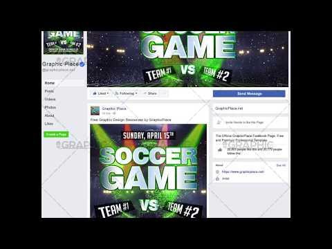 Soccer Game - Social Media Video Template for Facebook