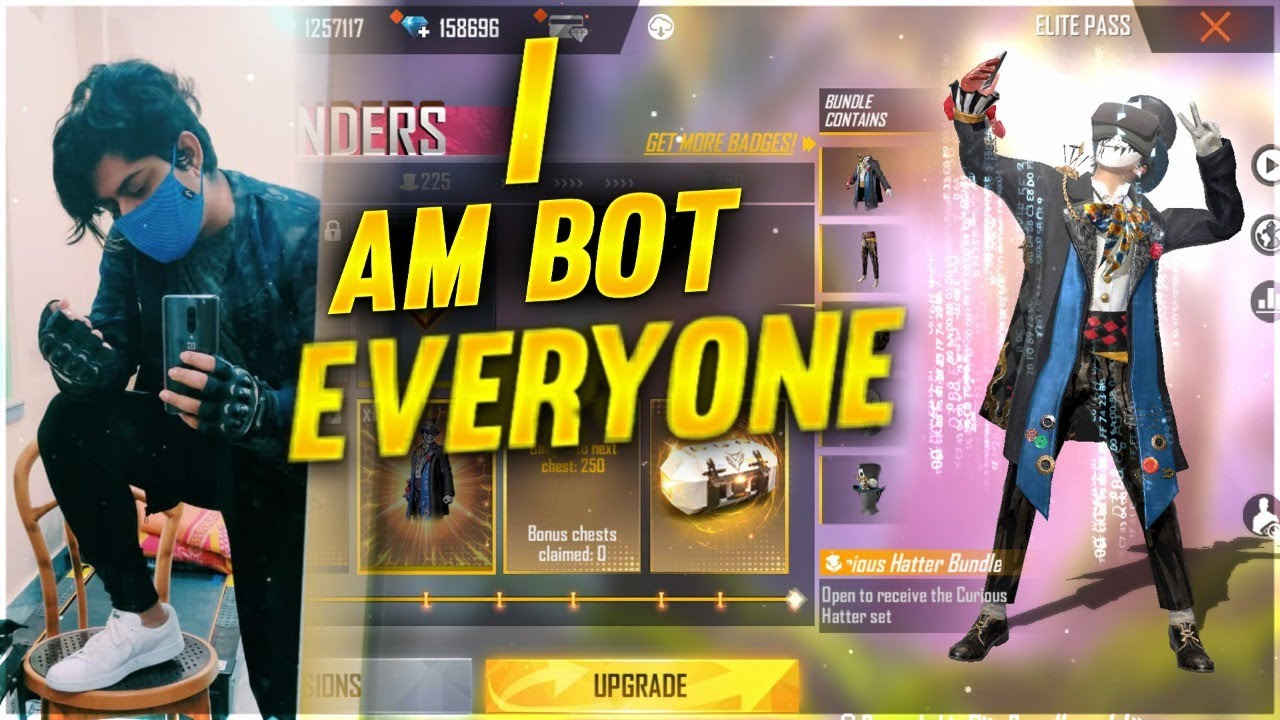 I AM BOT EVERYONE | FREE ELITE PASS! - FREE FIRE LIVE