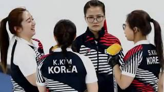 The Garlic Girls, South Korean female curling team at Winter Olympics in Pyeongchang in South Korea