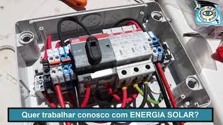 ⭕AULA PRÁTICA ENERGIA SOLAR - PLACAS EM SÉRIE E INVERSOR LIGADO À REDE🈁