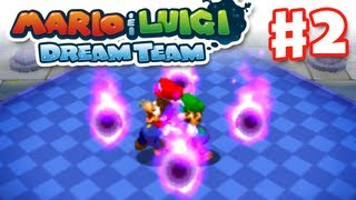 Mario & Luigi: Dream Team - Gameplay Walkthrough Part 2 - Smoldergeist Boss Fight (Nintendo 3DS)