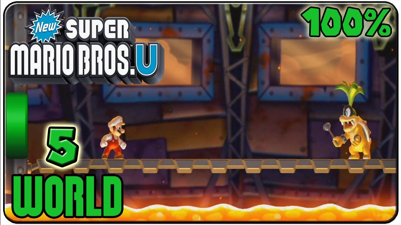 New Super Mario Bros U Walkthrough Part 11 World 5 Soda Cuitan