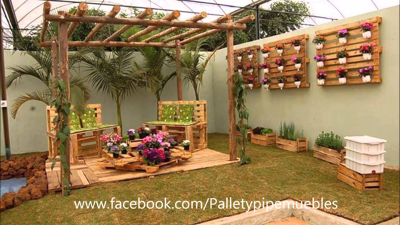 Pallet y pipe muebles youtube for Muebles de paletas recicladas