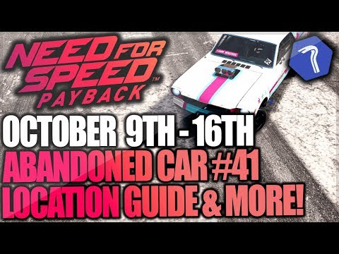 Need For Speed Payback Abandoned Car #41 - Location Guide + Gameplay - BIG SISTERS FORD MUSTANG!