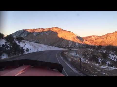 Driving Up To Sufco Coal Mine Near Emery Utah Empty.