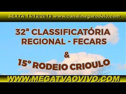 32º Classificatória Regional - Fecars  - 13ª RT - sexta 13/12/2019- Santa Maria-RS