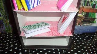 Miniature Bookshelf - Diy Lps Crafts, Easy Doll Crafts & Dollhouse Accessories