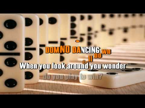 PET SHOP BOYS - DOMINO DANCING karaoke instrumental lyrics