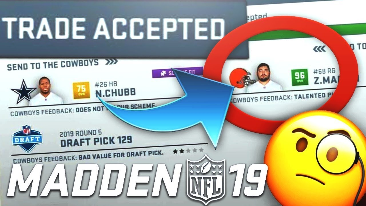MADDEN 19 OFFICIAL TRADE LOGIC GAMEPLAY