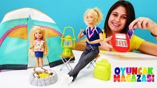 Barbie ile çocuk videosu. Kamp malzemeleri alıyoruz! Ayşe'nin oyuncak mağazası