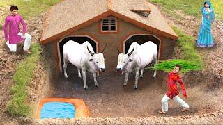 भूमिगत गाय का घर Build Underground Cow House Comedy Video हिंदी कहानिया Hindi Kahaniya Comedy Video