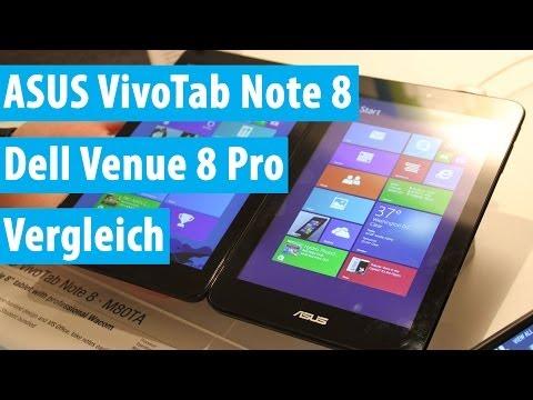 ASUS VivoTab Note 8 im Vergleich mit dem Dell Venue 8 Pro | Deutsch - German
