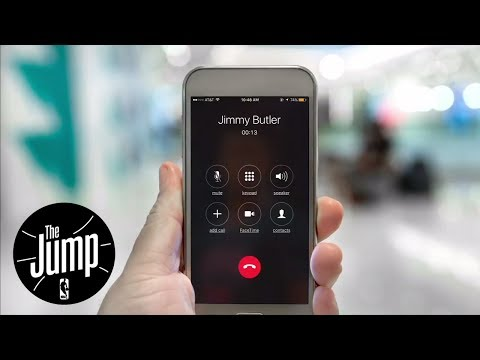 Jimmy Butler Gives Out Phone Number At Debut Press Conference With Timberwolves | The Jump | ESPN