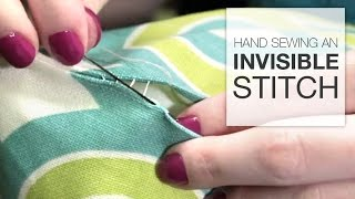 How to Hand Sew an Invisible Stitch (Tutorial)