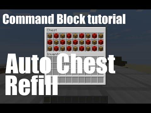 Quick Tutorial - Auto Chest Refill (Vanilla Minecraft)
