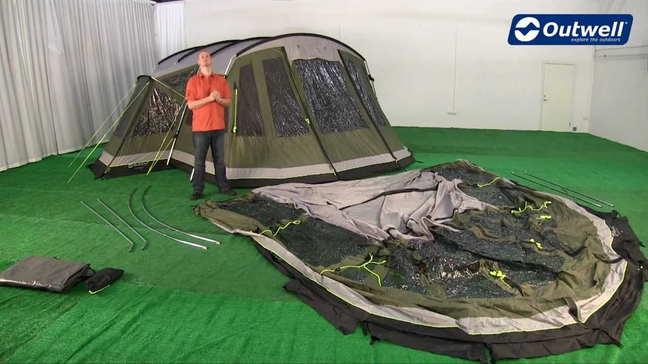 & Outwell Montana 6P Front Awning Pitching Video - YouTube