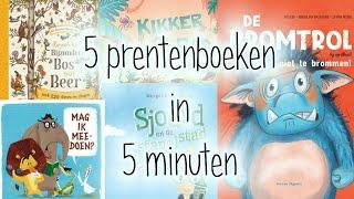 5 Prentenboeken in 5 minuten | Sjoerd, Beer, Eend, Kikker, Pad en de Bromtrol!
