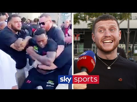 Behzinga & Eddie Hearn react to Viddal Riley & Shannon Briggs' HEATED clash | KSI vs Logan Paul 2 1