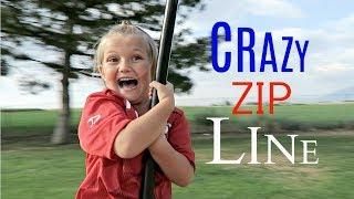 CRAZY  ZIP LINE AT A PARK!!!