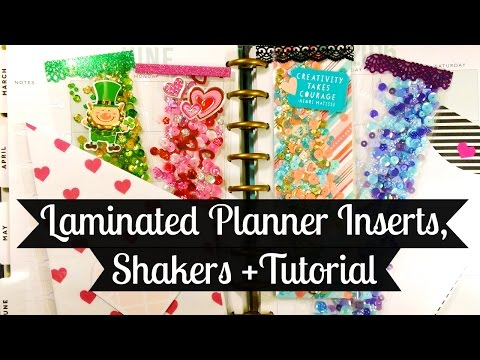 Laminated Shakers, Planner Inserts + Tutorial!
