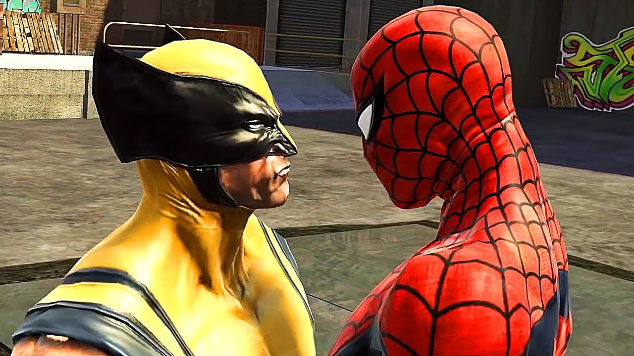 Spider-Man Vs Wolverine Boss Kampfszene - Spider-Man Web Of Shadows + video