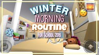 2019 Winter Morning Routine For School   ROBLOX BLOXBURG