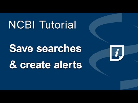 Save Searches and Set E-mail Alerts