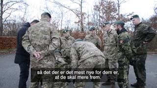 Soldater fra Hjemmeværnet bliver uddannet til grænseopgaven
