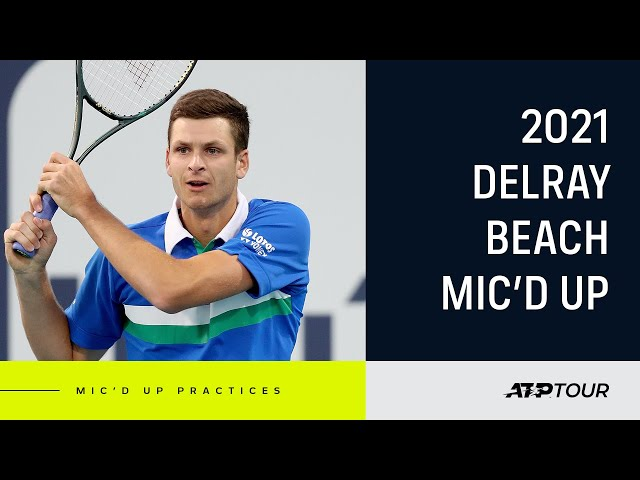Hurkacz, Tiafoe & 2021 Delray Beach Field Mic'd Up
