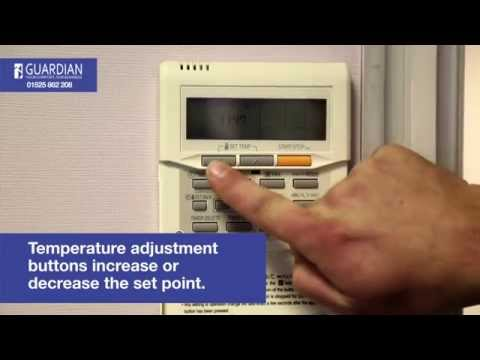 Fujitsu Air Conditioning Control Panel How To Guide