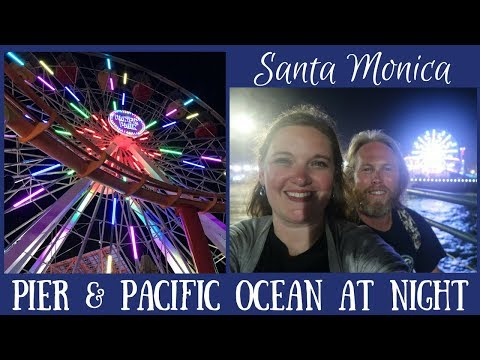Santa Monica Pier & Pacific Ocean at Night